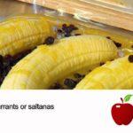 Healthy recipe - baked banana dessert