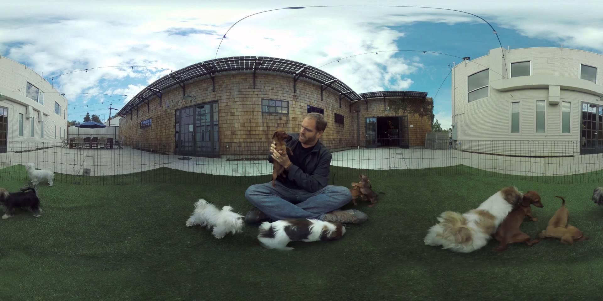 JOSH GATES 360: Playing With Puppies