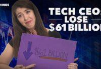 60-Second Video: Tech CEOs Lose $61 Billion