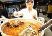 Japanese Street Food Tour DEEP in Tokyo, Japan! TASTY Japanese BBQ + Pork Gyoza and AMAZING Sushi!
