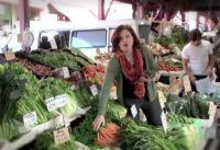 Shopping at fresh food markets