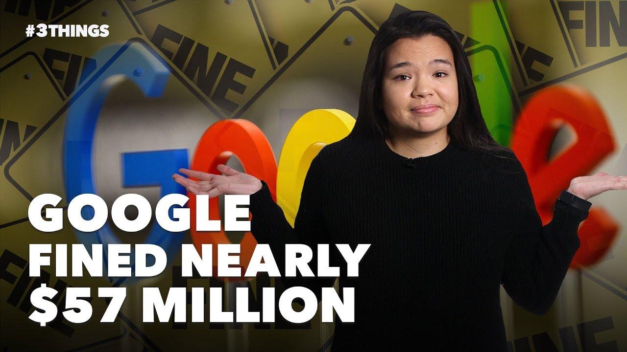 Google fined nearly $57 million