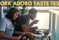 TRYING PORK ADOBO FOR FIRST TIME - NATIONAL DISH OF THE PHILIPPINES - MIAMI BEACH VLOG
