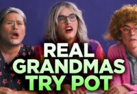 Definitely Real Grandmas Try Pot for the First Time