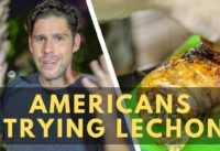 Americans trying traditional Filipino Lechon for first time