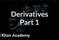 Calculus: Derivatives 1 | Taking derivatives | Differential Calculus | Khan Academy
