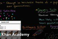 Genetic drift, bottleneck effect and founder effect   Biology   Khan Academy