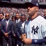 Derek Jeter's farewell speech to the Yankees on Derek Jeter Day