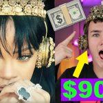 Wearing the $9,000 Rihanna Headphones