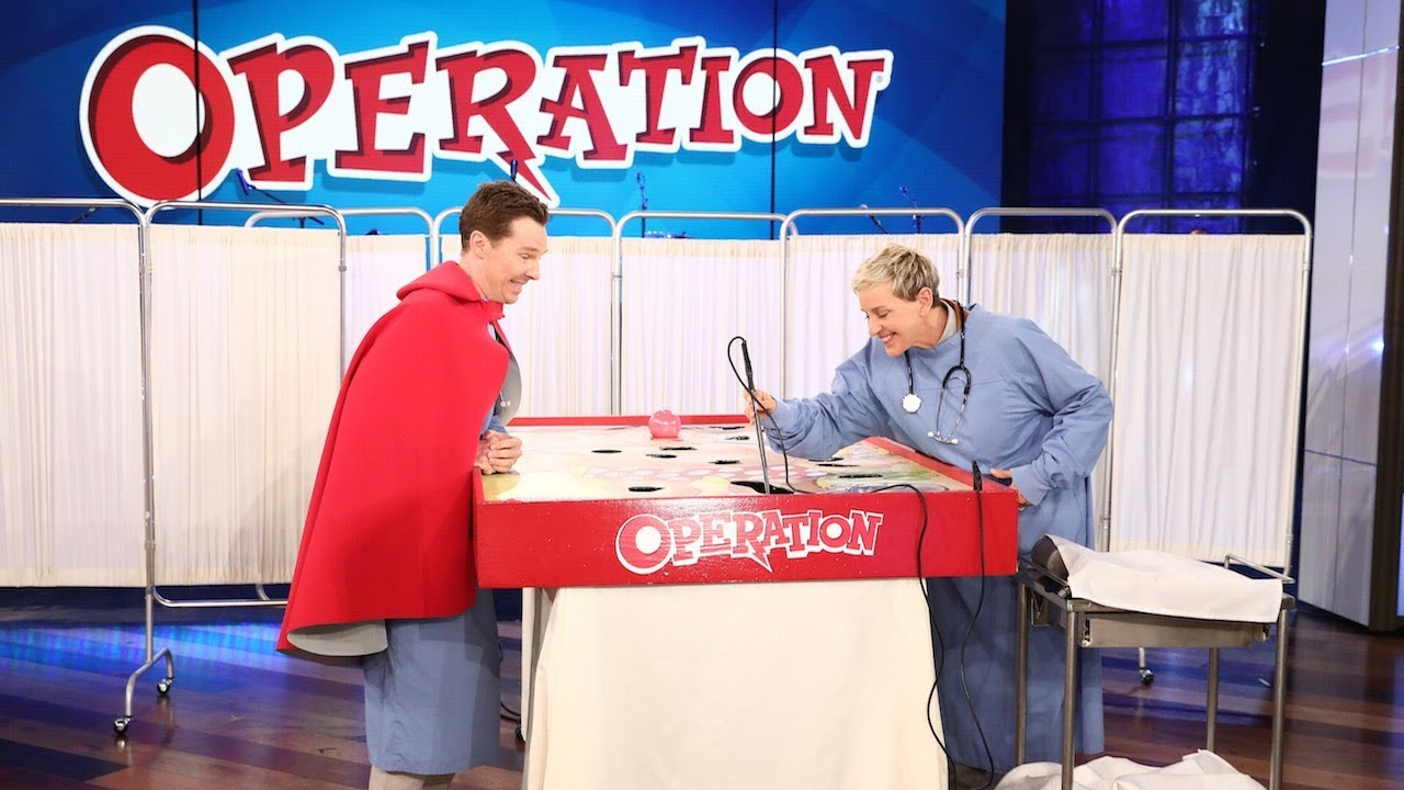 Benedict Cumberbatch Plays 'Operation'
