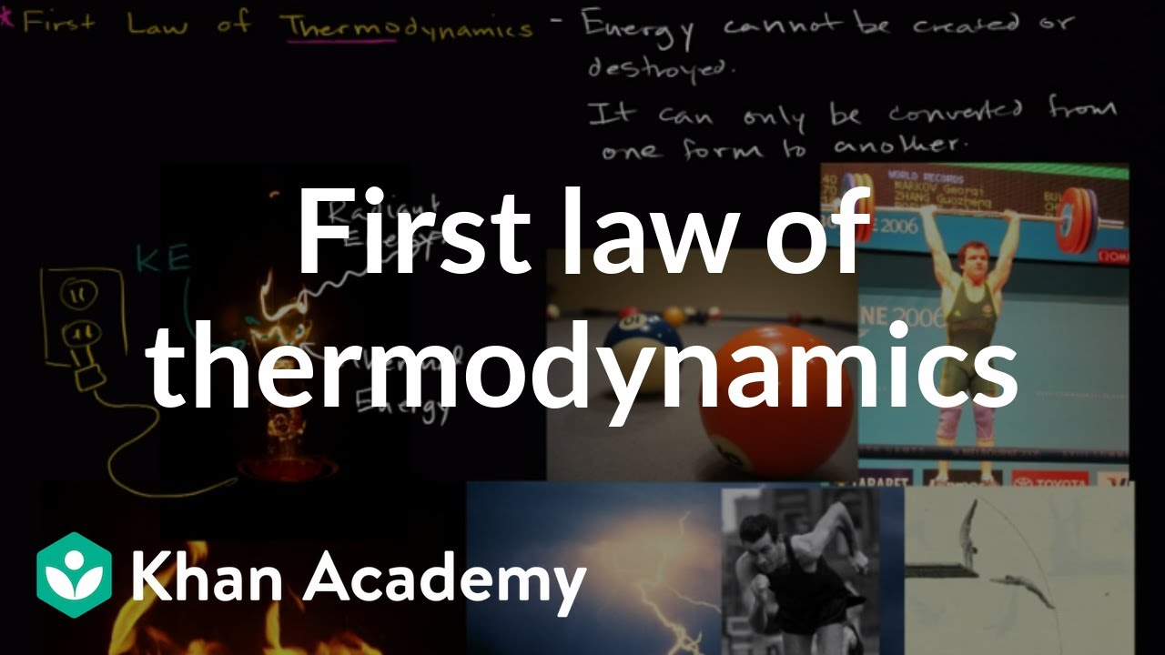 First Law of Thermodynamics introduction   Biology   Khan Academy