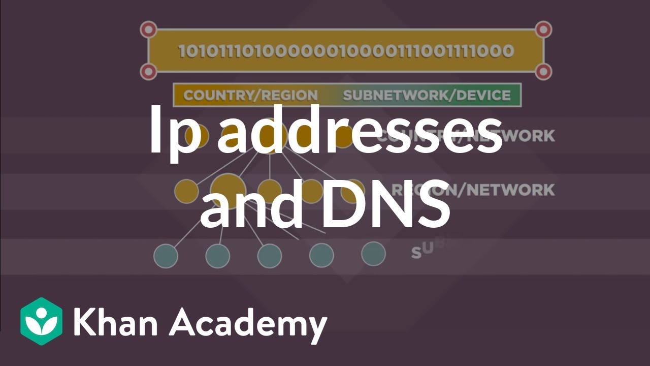 IP addresses and DNS   Internet 101   Computer Science   Khan Academy
