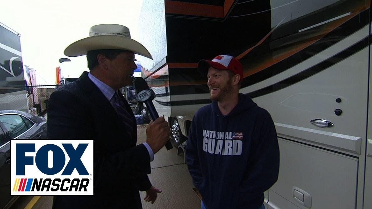 Michael Waltrip Visits Dale Jr.'s Motorcoach at Texas - 2014 NASCAR Sprint Cup