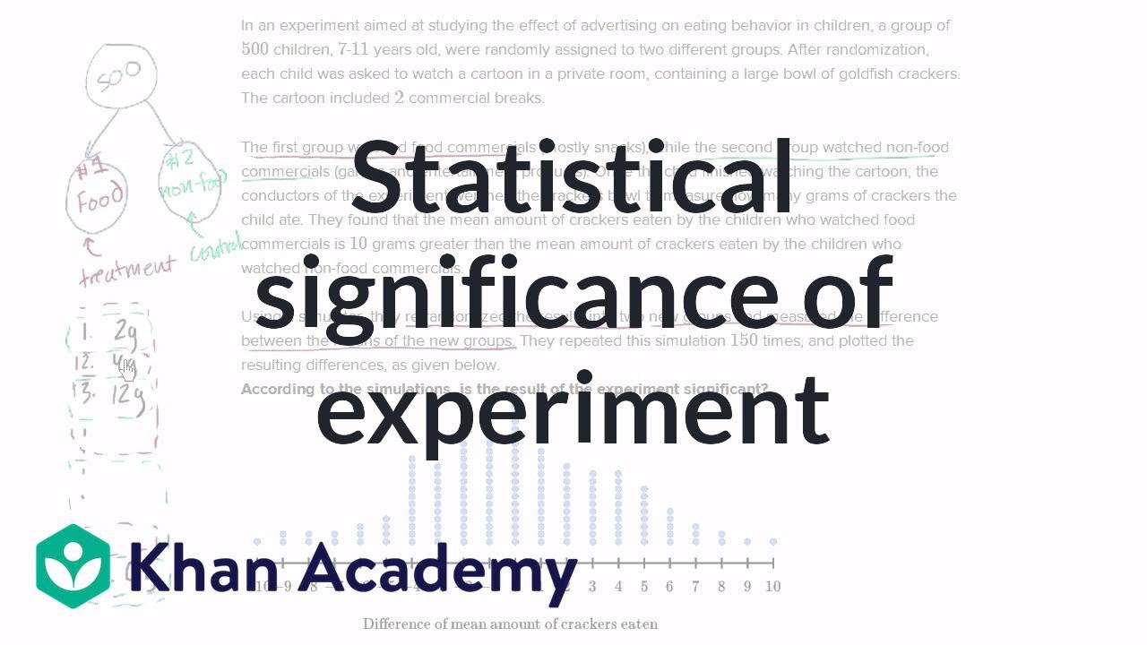 Statistical significance of experiment | Probability and Statistics | Khan Academy