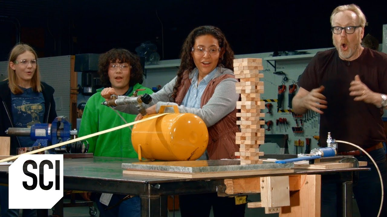 The Impossible Jenga Move   MythBusters Jr.