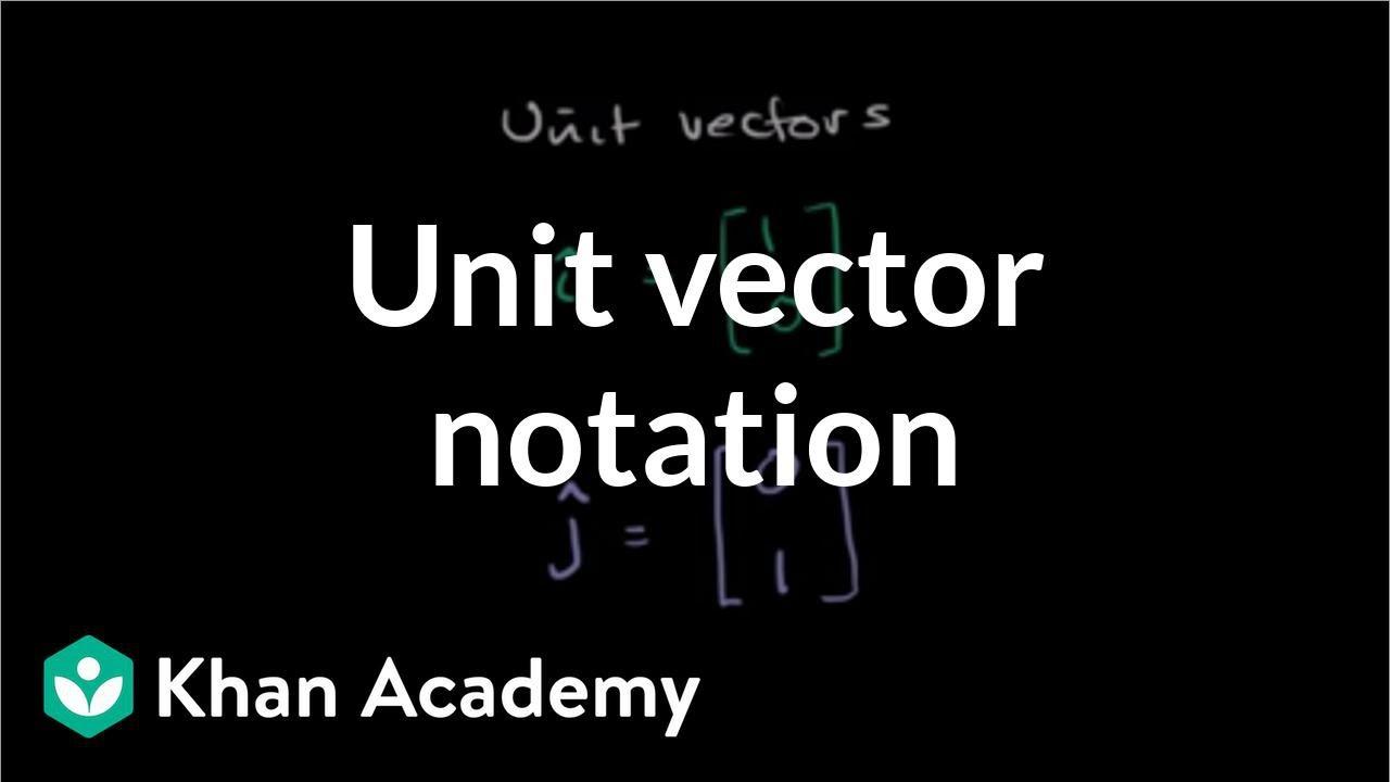Unit vector notation   Vectors and spaces   Linear Algebra   Khan Academy