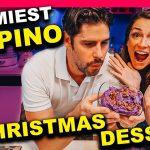MINDBLOWING Filipino Christmas Food - Foreigners cooking UBE HALAYA