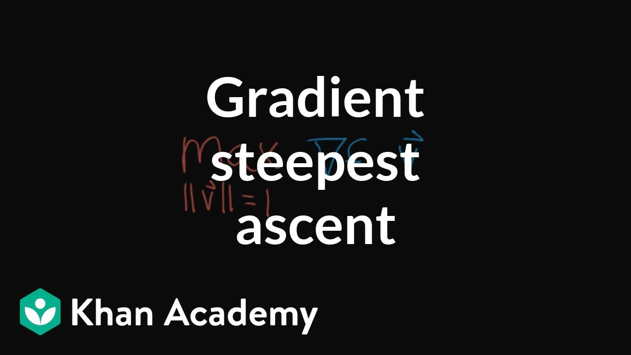 Why the gradient is the direction of steepest ascent